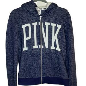 PINK by VS purple long sleeve hooded sweatshirt, M